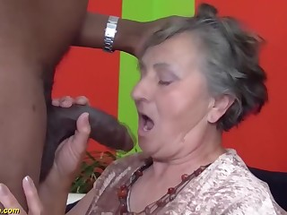 80 discretion aged grandmother very mischievous multiracial